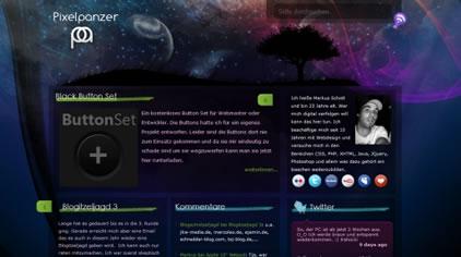 使用發光效果的網站設計欣賞,PS教程,思緣教程網