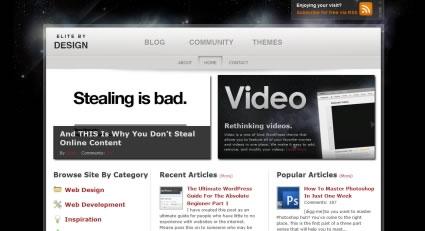 使用發光效果的網站設計欣賞