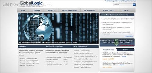 流行的企业网站界面设计欣赏(二)