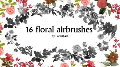 花朵花环笔刷