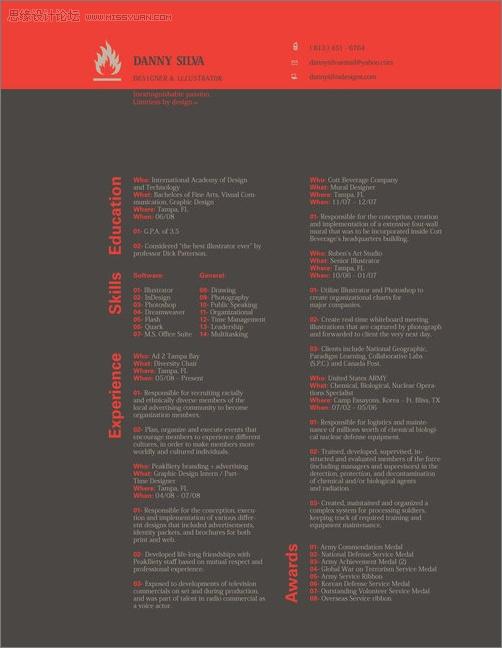 50款不同風格的國外設計師簡歷範本欣賞