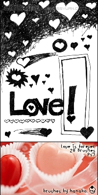 爱情心形笔刷