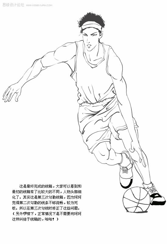 篮球运动员步骤详解