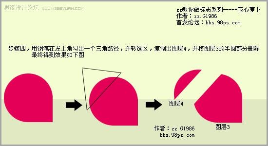 Photoshop设计花心萝卜网站标志,PS教程,思缘教程网