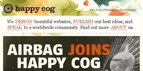 水彩效果的網站設計欣賞