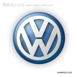 Photoshop绘制大众汽车的标志,PS教程,思缘教程网