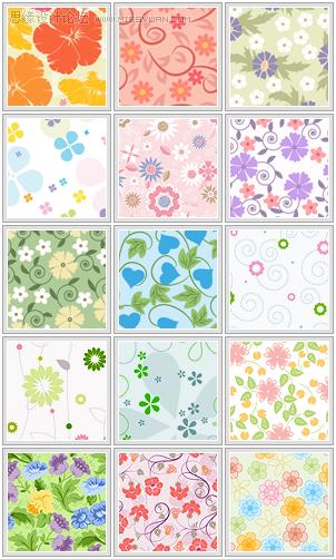 花朵填充图案 - 思缘教程网 - 专业的素材下载网