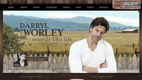 个人音乐网站界面设计欣赏