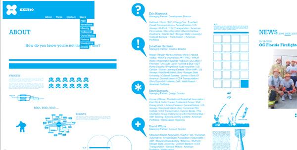 優秀的水平網頁設計欣賞