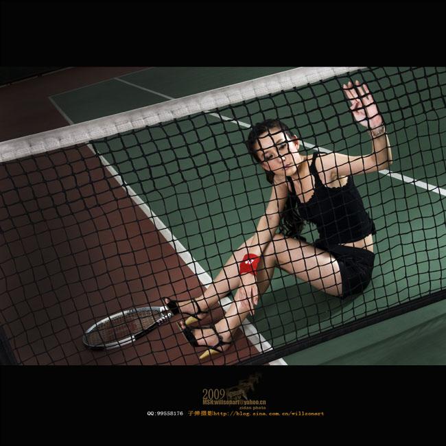 攝影後期作品:一個人的網球場