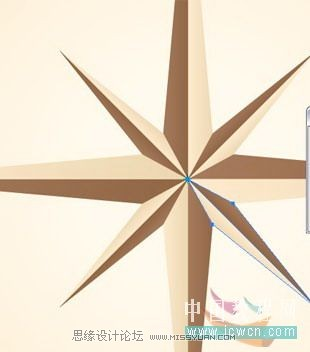 illustrator简单绘制金色指南针,ps教程,思缘教程网