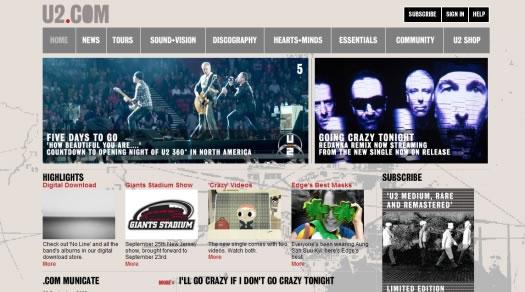 樂隊和歌星網站設計欣賞
