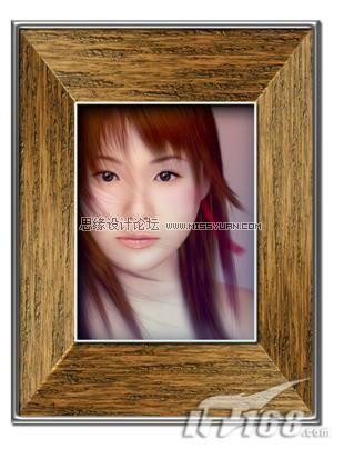 photoshop打造逼真木质相框效果