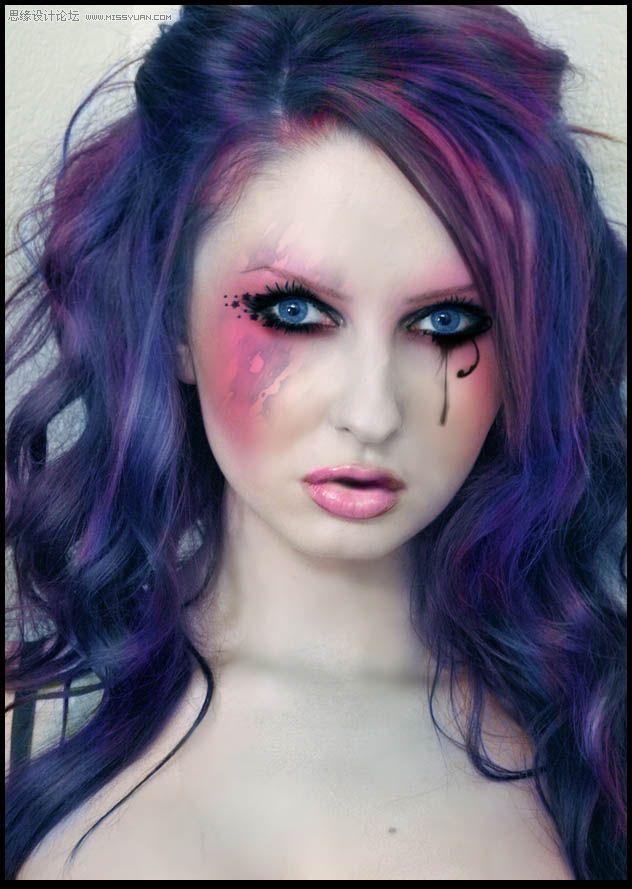 眼泪笔刷,彩妆笔刷,哥特装饰笔刷,化妆笔刷,PS笔刷,Photoshop笔刷