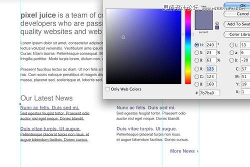 Photoshop设计苹果系统风格的网页模板,PS教程,思缘教程网
