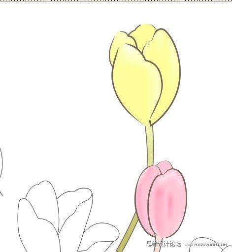 CorelDRAW绘制漂亮的花朵工笔画效果