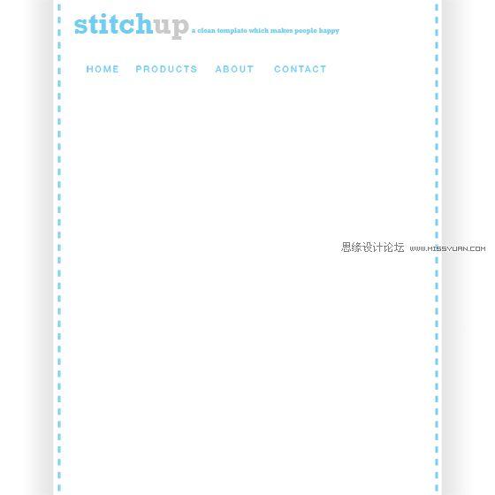 Photoshop设计淡雅风格的博客网页模板,PS教程,思缘教程网