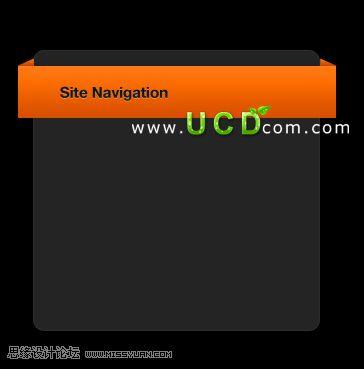 photoshop制作橙色盒子网页导航(2)