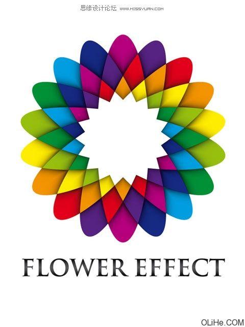 Illustrator製作的彩色花瓣教學