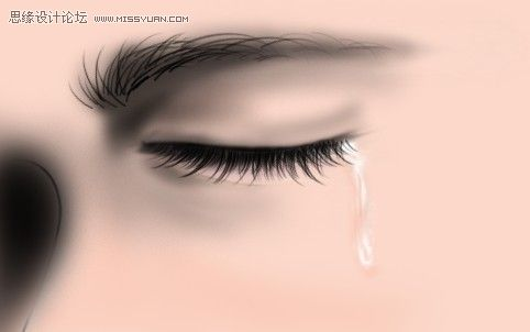 photoshop鼠绘帅哥流泪的眼睛(3)