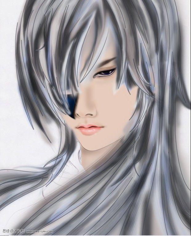 蓝眼动漫男生_动漫 卡通 漫画 头像 620_766 竖版 竖屏