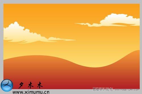 oshop绘制一幅简单的秋天风景图图片