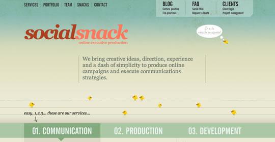 一些极其简约的单页面网站设计
