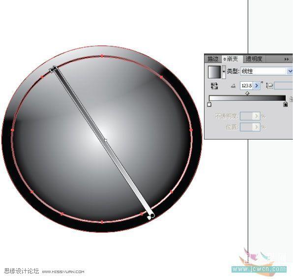 Illustrator製作漂亮水晶按鈕圖標