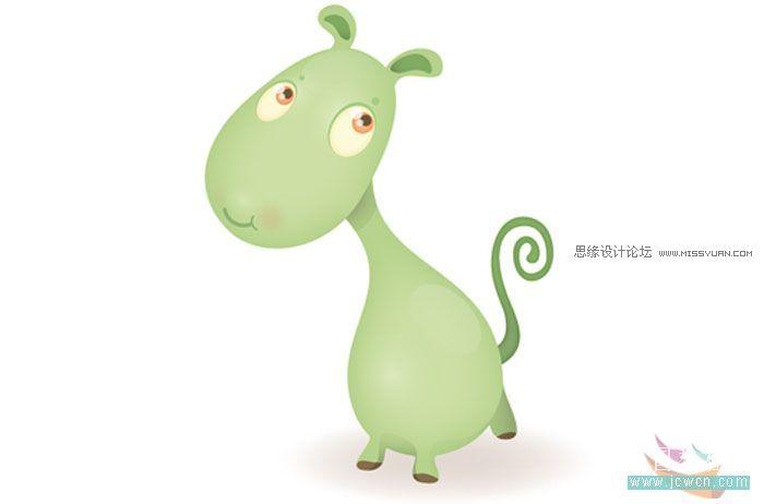 illustrator绘制可爱的卡通动物安吉拉