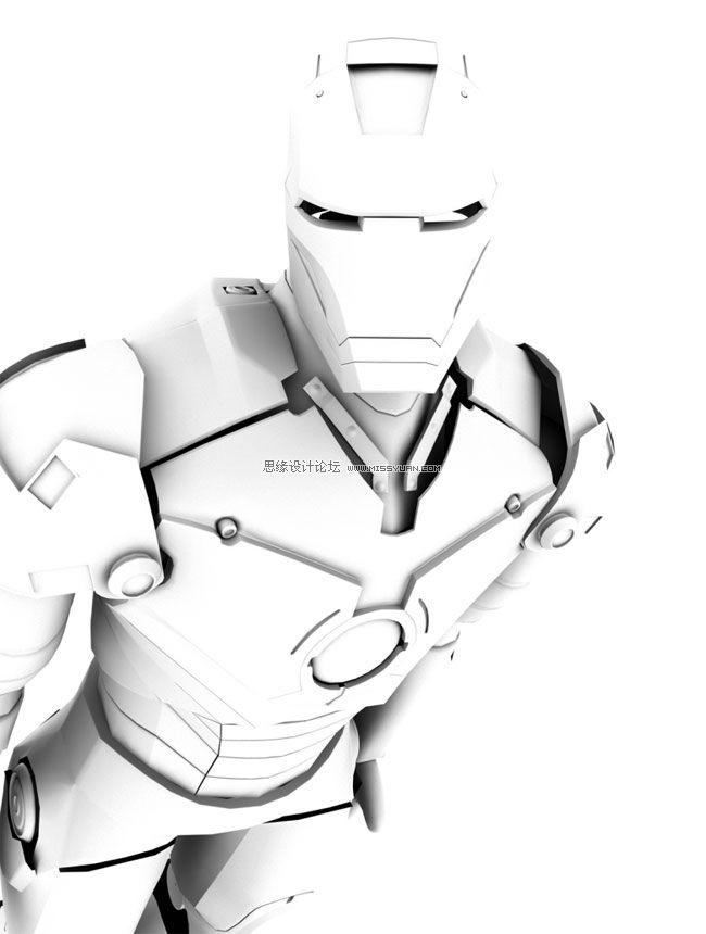 maya建模教程:打造超级英雄钢铁侠(2)