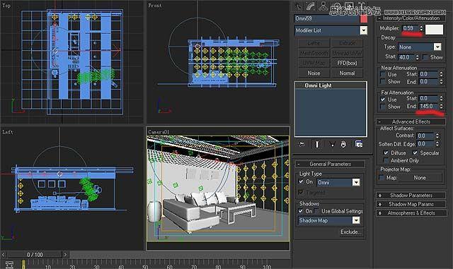 3dmax實例教程:簡單的室內場景渲染教程(2)