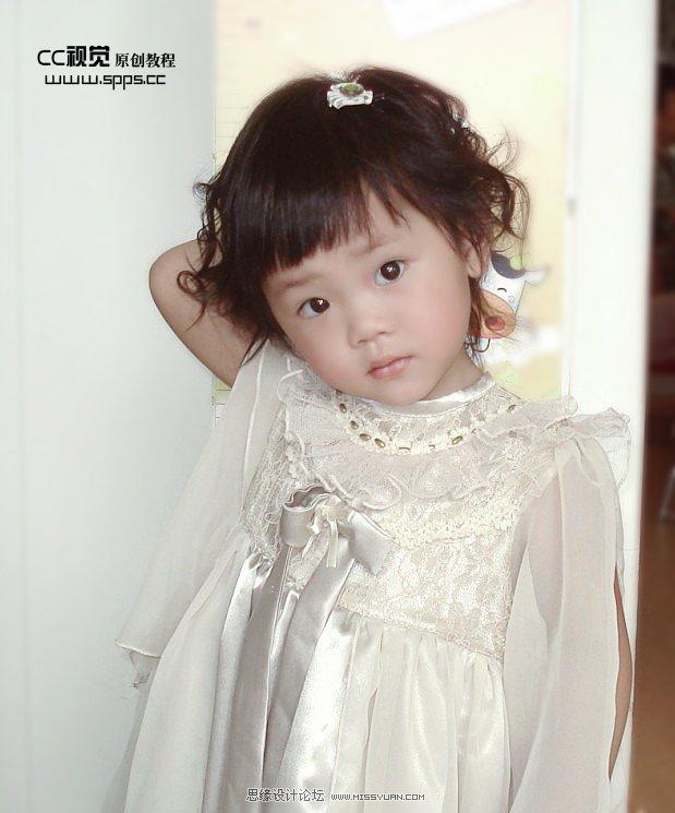 photoshop为宝宝模糊照片调出明亮清晰色调(3)