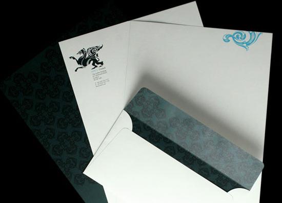 精选国外漂亮的信封和信笺设计作品