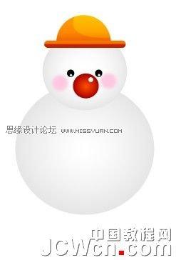 Illustrator鼠繪教學:繪製雪地上堆雪人的孩童插畫