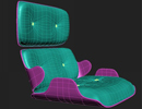 3dsMax制作埃姆斯时尚休闲椅的座位