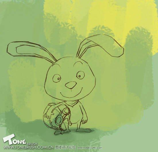 非常可爱的卡通小动物造型_乐乐简笔画