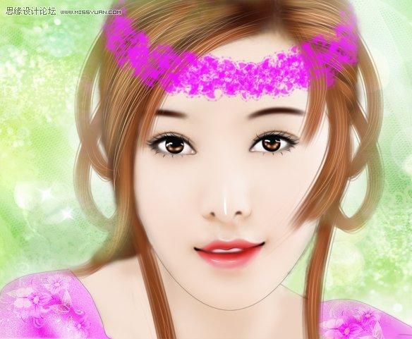 photoshop给美女范冰冰转手绘教程