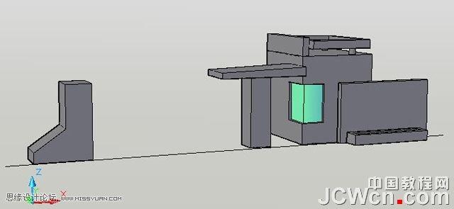 转角窗平面图怎么画