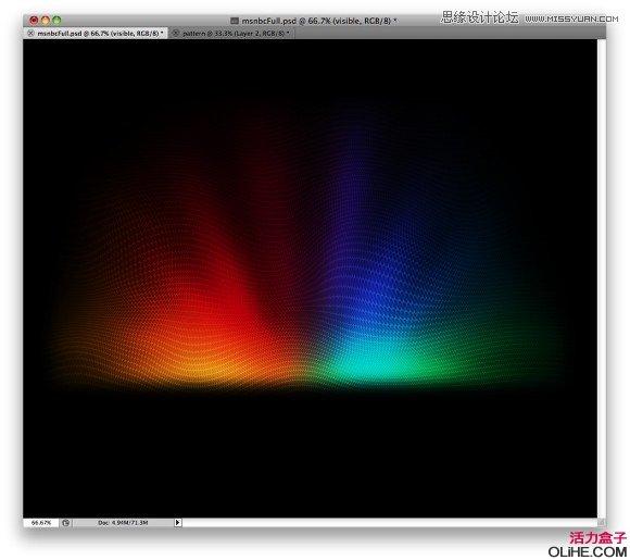 Photoshop设计超酷的彩色效果背景图