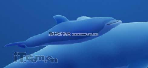 photoshop绘制可爱的卡通海豚教程(4)