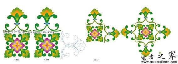 illustrator教程:古典花纹图案的设计制作图片