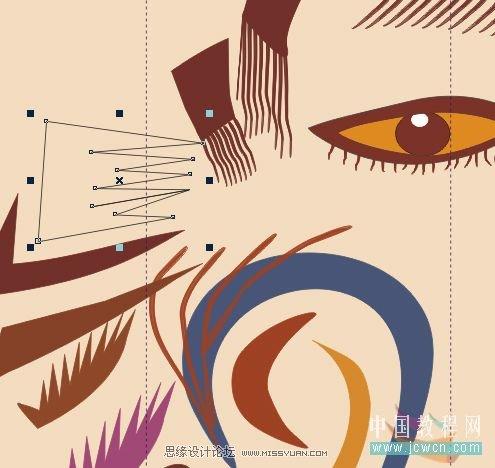 抽象人物装饰画的绘制