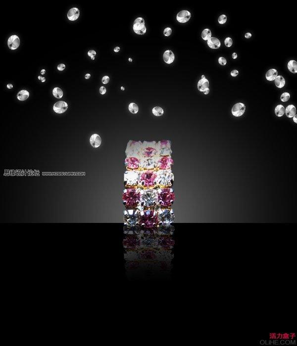 photoshop设计时尚的钻石海报教程(2)