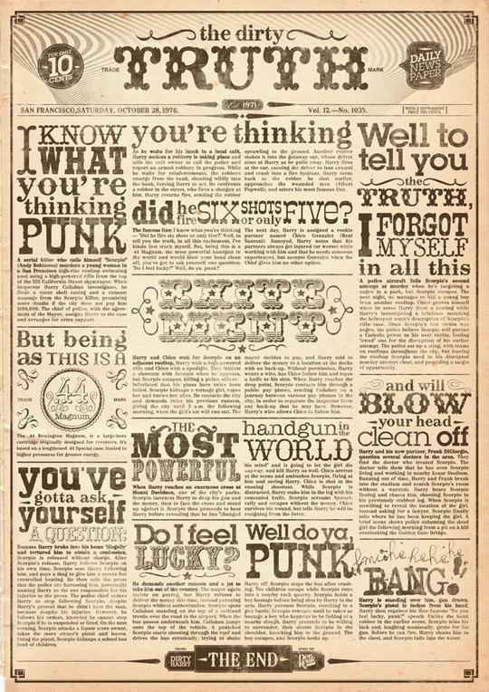 90款漂亮的文字排版海報設計