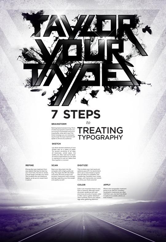 90款漂亮的文字排版海报设计图片
