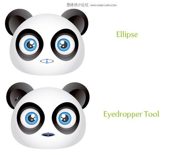 illustrator创建可爱的熊猫宝宝头像图标