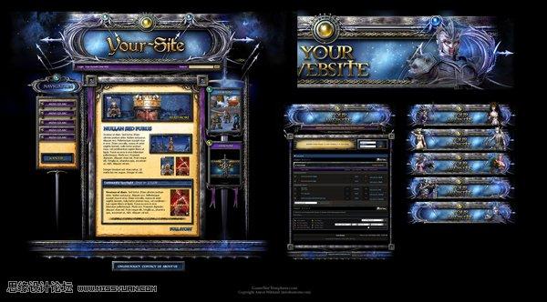 国外黑暗系游戏网站设计欣赏