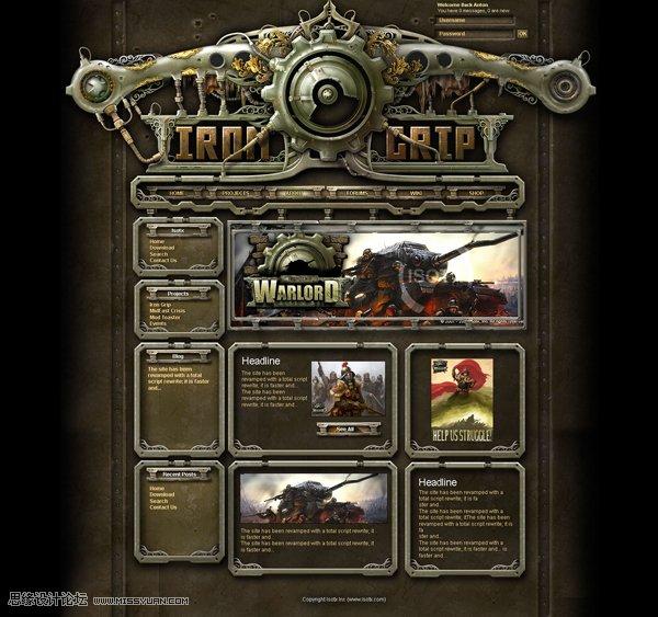 国外黑暗系游戏网站设计欣赏(4)