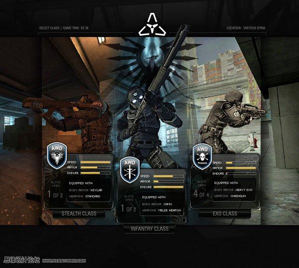 国外黑暗系游戏网站设计欣赏(2)