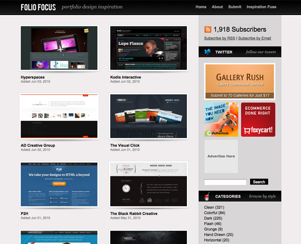 com is a smaller gallery of innovative and imaginative wordpress